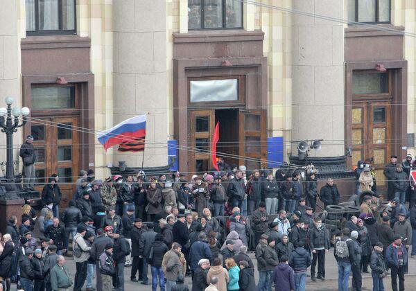 Сторонники федерализации взяли под контроль здание Харьковской областной госадминистрации