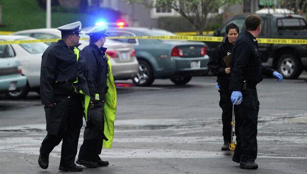 Расследование преступления в районе еврейского центра в Оверленд-Парке, США. Фото с места события