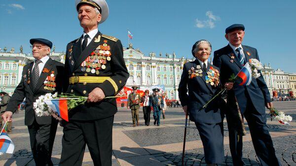 Военный парад в Санкт-Петербурге, посвященный Дню Победы