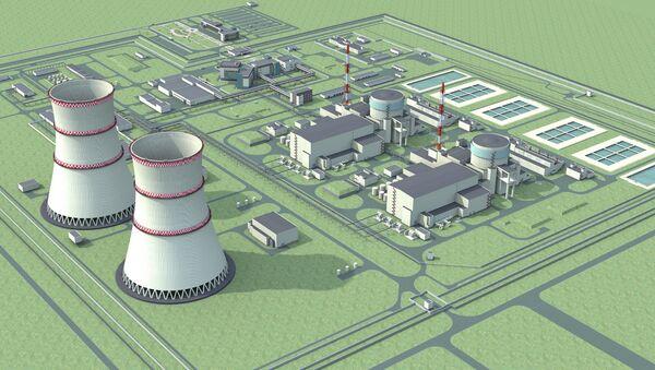 Макет Белорусской АЭС. Архивное фото