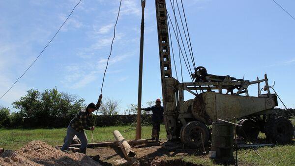 Бурение скважины для приема воды в Крыму