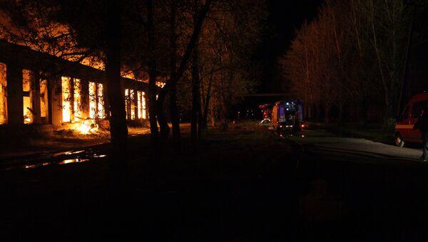 Пожар в Пушкинском районе. Фото с места событий
