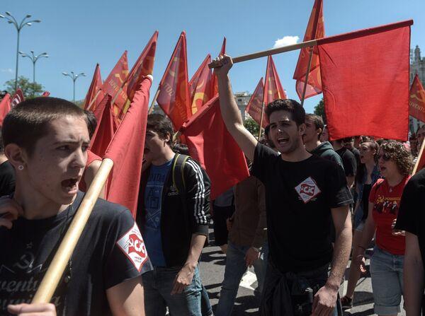 Первомайские демонстрации в Мадриде