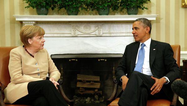 Обама и Меркель обсуждают ситуацию на Украине в Белом доме