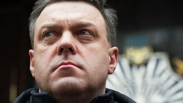 Председатель партии Всеукраинское объединение Свобода Олег Тягнибок. Архивное фото