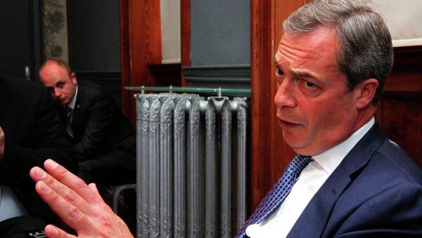 Член Европарламента, лидер Британской партии независимости Найджел Фарадж. Архивное фото