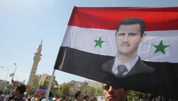 Митинг в поддержку Башара Асада в Дамаске. Архивное фото