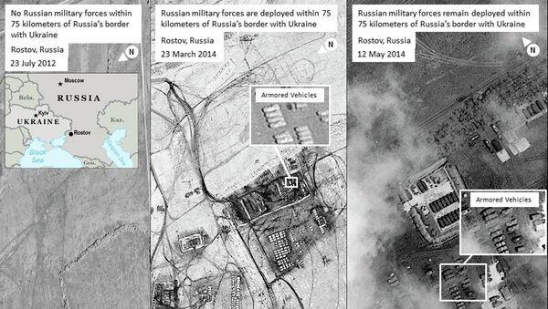 Cнимки из космоса, якобы свидетельствующие о присутствии на российско-украинской границе войск РФ