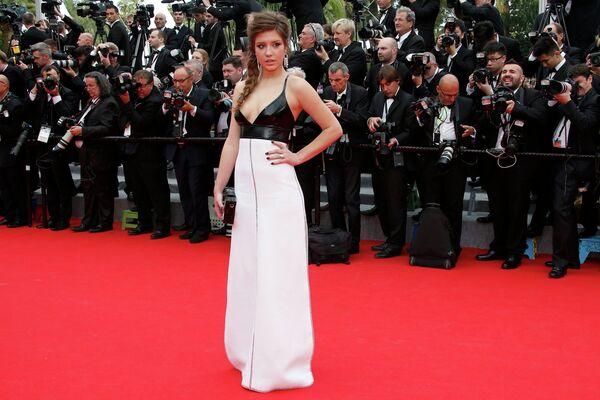 Актриса Адель Экзаркопулос на 67-ом Каннском фестивале