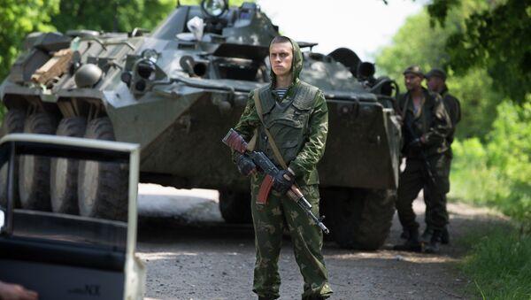 Украинские военные возле Краматорска 14 мая 2014. Архивное фото