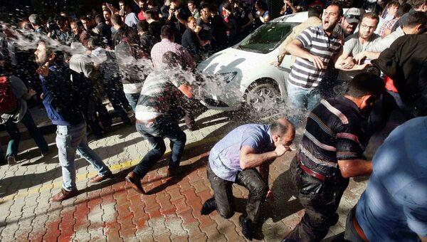 Разгон демонстрации в турецком городе Сома