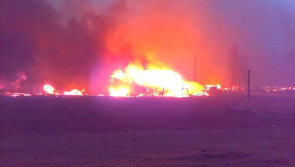 Пожар в поселке Дальний Иркутской области
