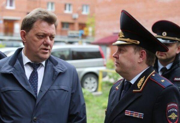 Мэр Томска Иван Кляйн (слева) и начальник УМВД РФ по Томской области Игорь Митрофанов (справа), событийное фото
