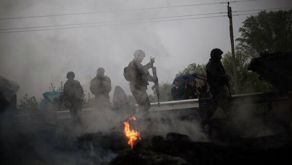 Украинские военные возле Славянска. Архивное фото