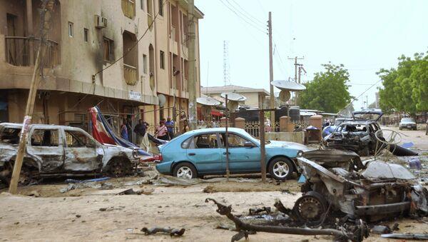 На месте взрыва в городе Кано в Нигерии. Архивное фото