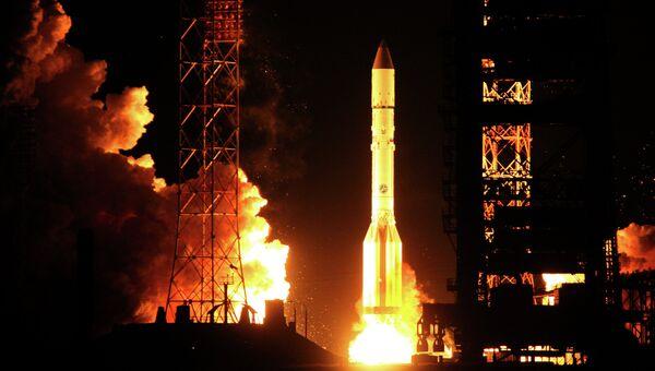 Запуск ракеты-носителя Протон. Архивное фото