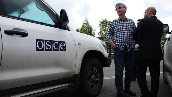 Машина наблюдателей ОБСЕ в Донецке
