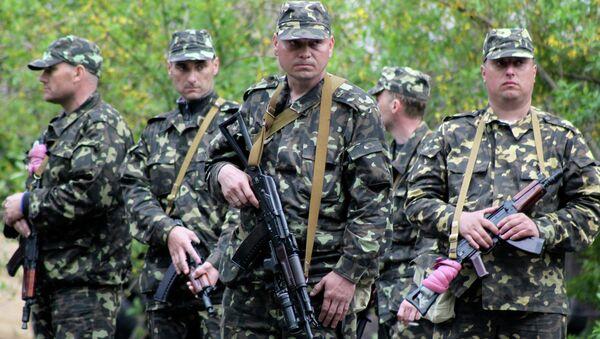 Украинские военнослужащие в Мариуполе. Архивное фото