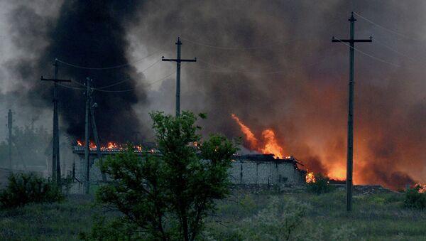 Пожар на складе боеприпасов в воинской части на территории города Александровска