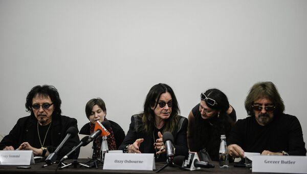 Пресс-конференция с группой Black Sabbath в Москве