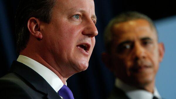 Премьер-министр Великобритании Дэвид Кэмерон и президент США Барак Обама. Архивное фото