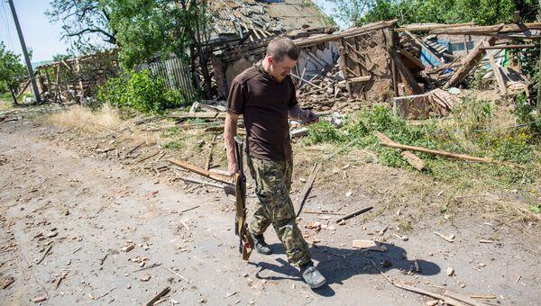 Боец народного ополчения ДНР. Архивное фото