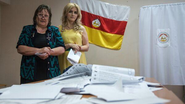 Подсчет голосов на парламентских выборах в Южной Осетии