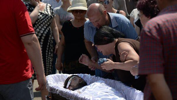 Похороны народного депутата Верховного совета Донецкой народной республики Максима Петрухина