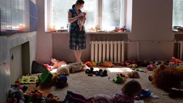 Беженцы в общежитии. Архивное фото