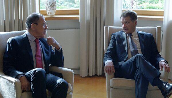 Встреча министра иностранных дел РФ С.Лаврова с президентом Финляндии С.Ниинисте