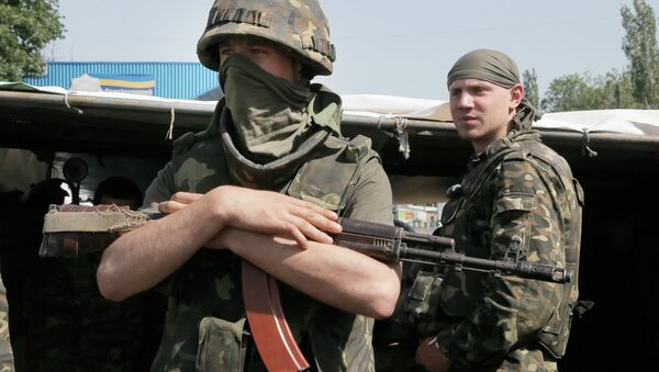 Бойцы Национальной гвардии Украины, архивное фото