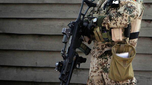 Немецкий солдат в Афганистане. Архивное фото