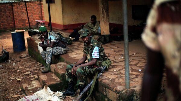 Военные на базе в ЦАР. Архивное фото