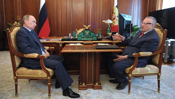 В.Путин встретился с В.Жириновским
