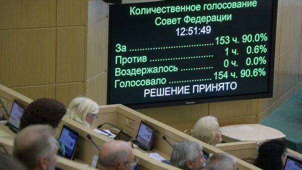 Заседание Совета Федерации РФ 25 июня 2014