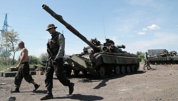 Украинская военная техника на востоке Украины