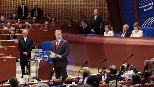 Петр Порошенко на сессии Парламентской Ассамблеи Совета Европы в Страсбурге