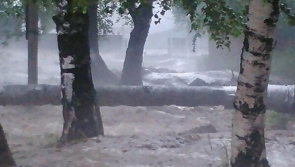 Подтопление в село Аршан в Бурятии. Архивное фото