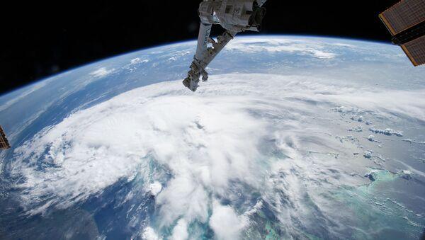 Шторм Артур на снимке из космоса. Архивное фото