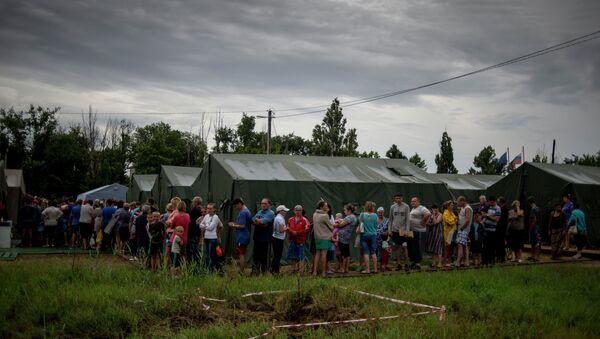 Лагерь беженцев из Украины в Ростовской области. Архивное фото