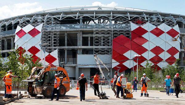 Строительство стадиона Открытие Арена футбольного клуба Спартак. Архивное фото