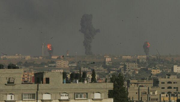 Авиаудары израильской армии в городе Рафах