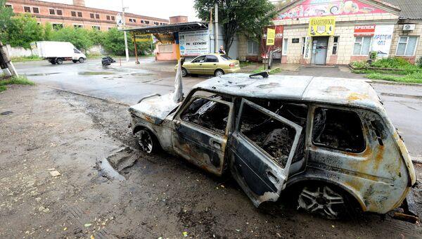 Последствия обстрела Луганска украинской армией. Архивное фото