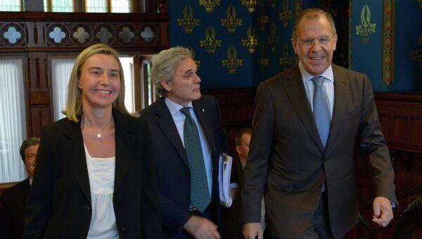 Встреча министров иностранных дел России и Италии в Москве