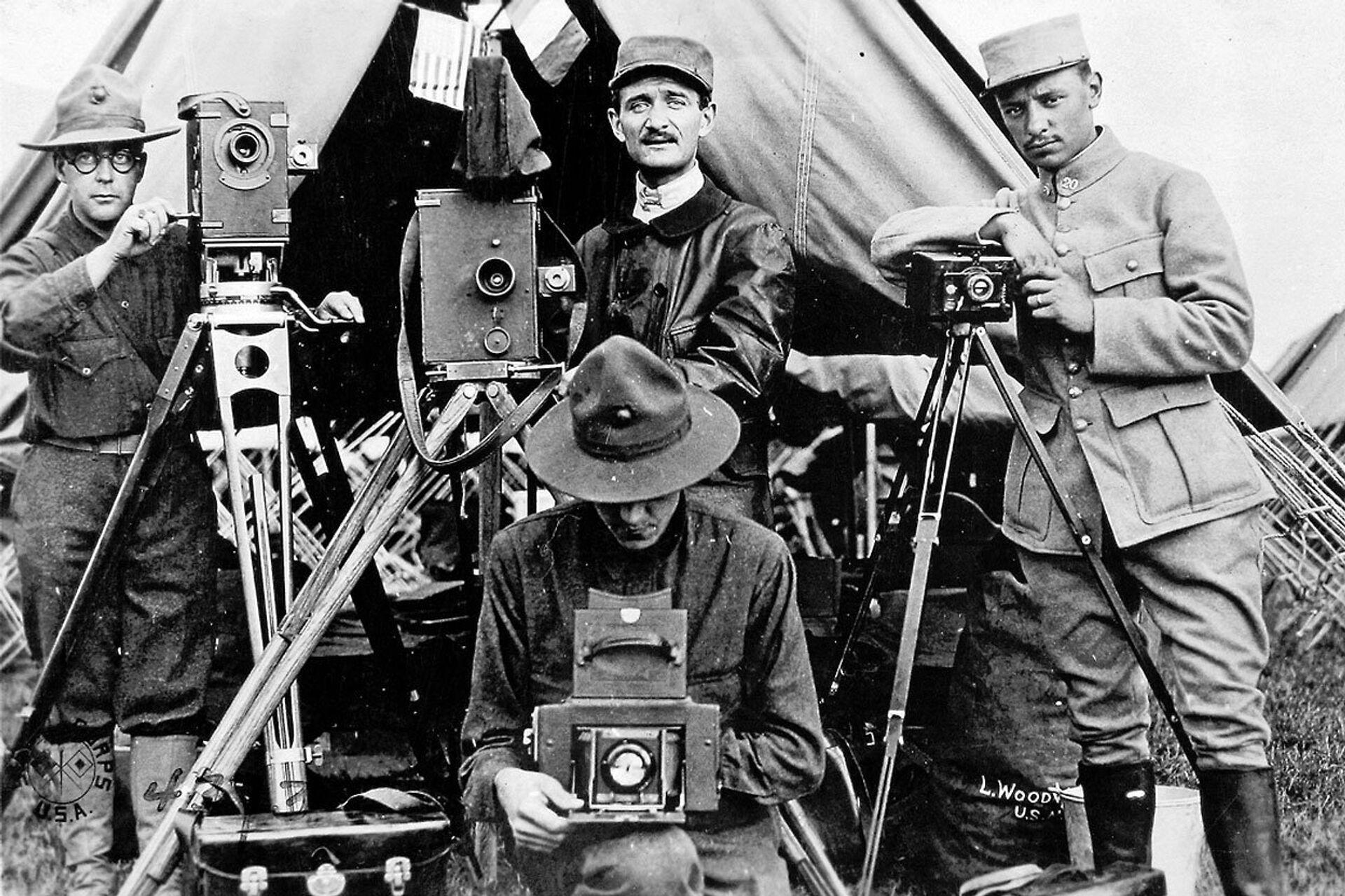 Американские и французские фотографы во время Первой мировой войны - РИА Новости, 1920, 22.01.2021