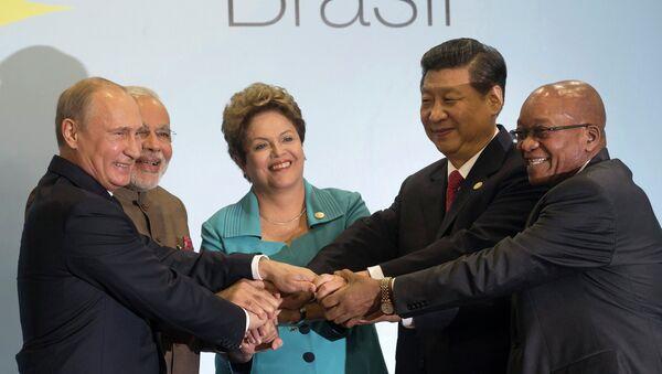 Лидеры стран БРИКС во время саммита в Бразилии. Архивное фото