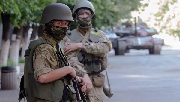 Солдаты украинской национальной гвардии