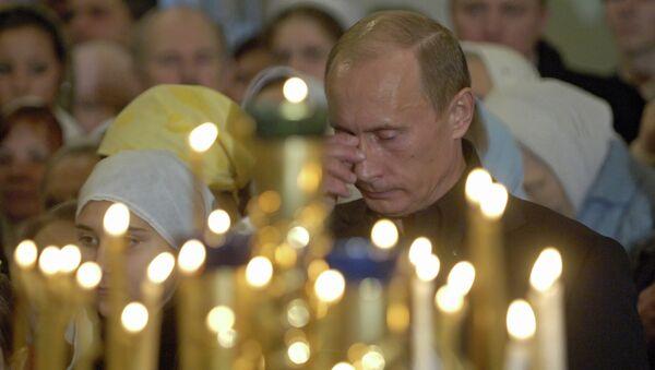 Президент России принял участие в рождественской службе