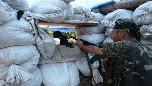 Ополченцы в Луганской области. Архивное фото