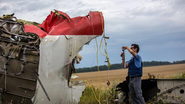 Поисковые работы на месте крушения малазийского лайнера Boeing 777 в районе Шахтерска
